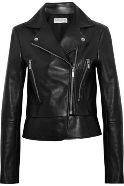 Leather biker jacket #bikerjacket #covetme #balenciaga