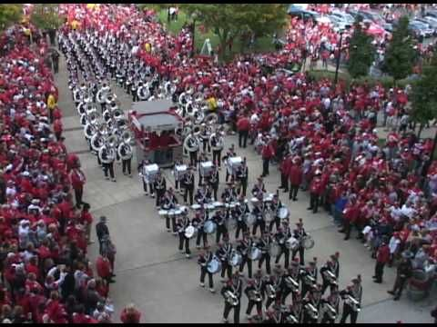 OSU Marching Band Entering Ohio Stadium   See if you can find me in the crowd, I'm wearing Scarlet!