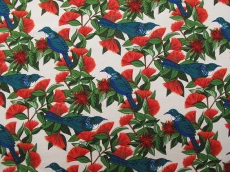Tui & Pohutakawa Bird Print