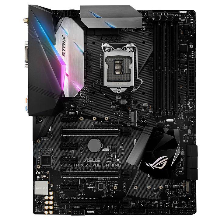 ASUS ROG STRIX Z270E GAMING. Basée sur le chipset Intel Z270 Express, la carte mèreASUS ROG STRIX Z270E GAMING est conçue pour accueillir les processeurs Intel Core de 7ème génération. Elle permettra l'assemblage d'une configuration Gamingéquipée d'un processeur performant et dotée de fonctionnalités exclusives ASUS.Grâce au support des cartes graphiques PCI-Express 3.0 16x, des disques SATA 6Gb/s, de la mémoire vive DDR4 et de la norme USB 3.1, cette carte mère à la pointe de la…