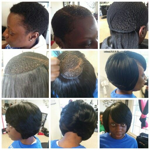 84 best hair ideas images on pinterest hair dos black girls braidless sew in technique for short hair solutioingenieria Image collections