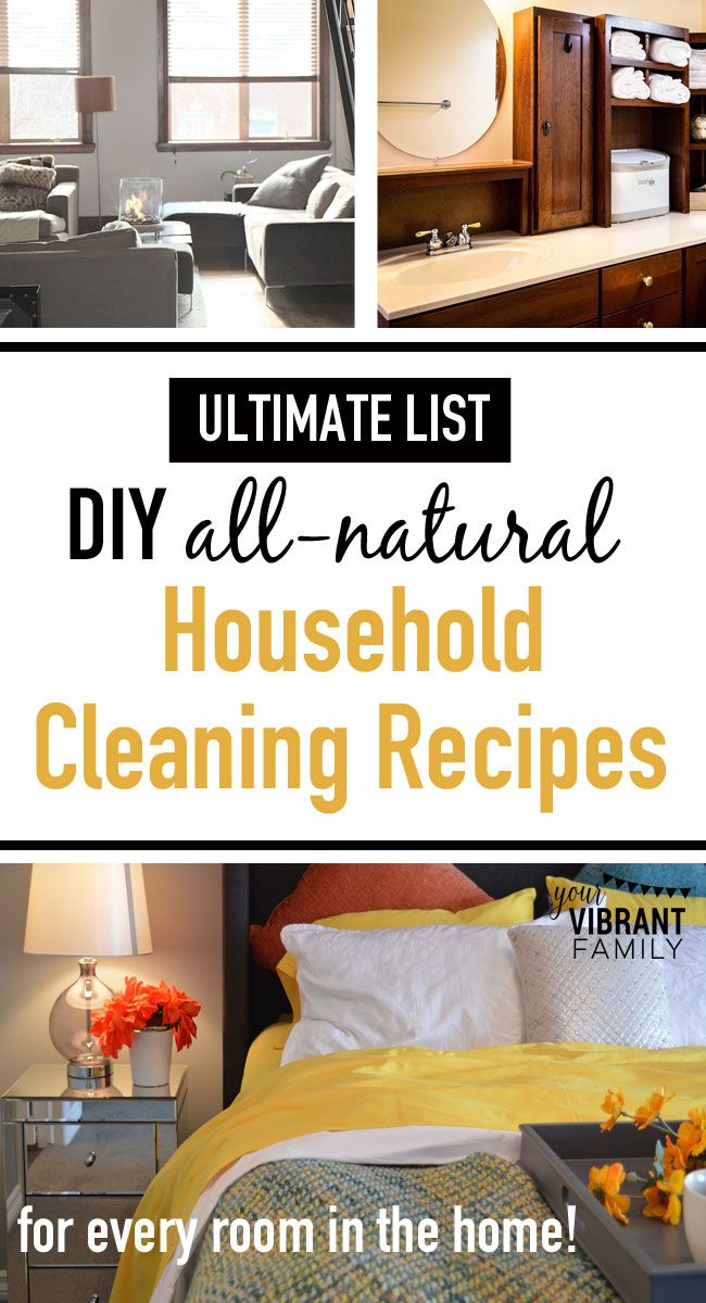 Want to know how to make natural household cleaning recipes that actually work? Look no further! You'll LOVE this list of 18 all-natural cleaning recipes to clean every room in your home—window cleaners, kitchen counter wipes, tile/grout cleaners, and so much more! All these recipes (plus recommended supplies), for FREE, in one place?! YES!!