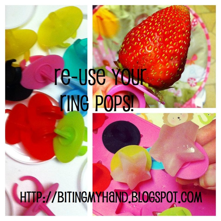 How to Re-Use Ring Pop Rings. WOW these are fun ideas!Pop Rings, Fun Food, Kids Stuff, Fun Ideas, Re Us Rings, Reuse Rings Pop, Food Fun, Kids Fun, Kids Food