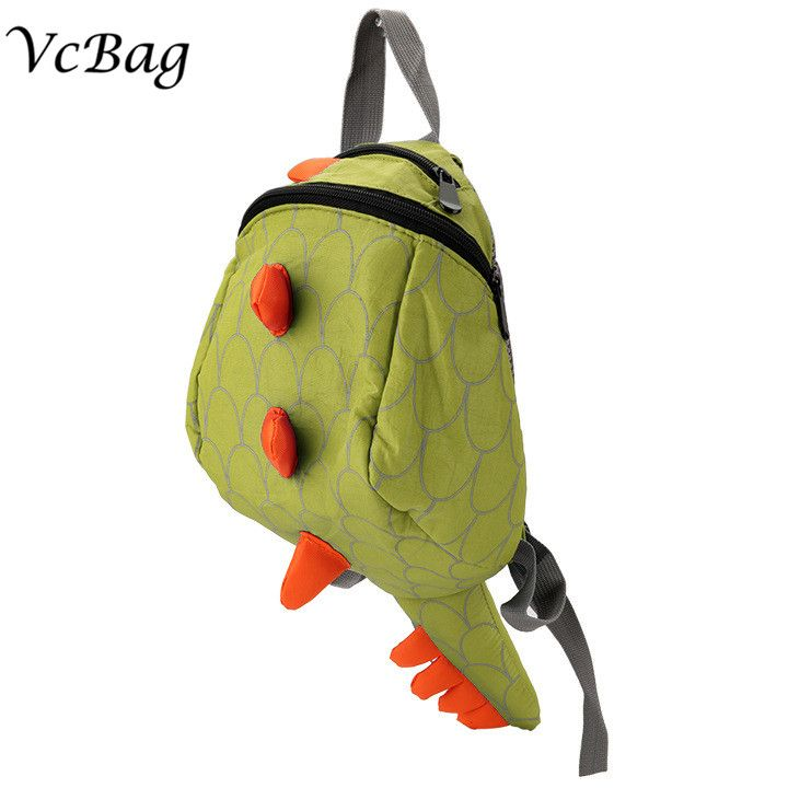 New Hot 3D Cartoon Dinosaur Baby Toddler Backpack Baby Lunch Box Bag Kindergarten School bags Travel Snacks Bag Pack