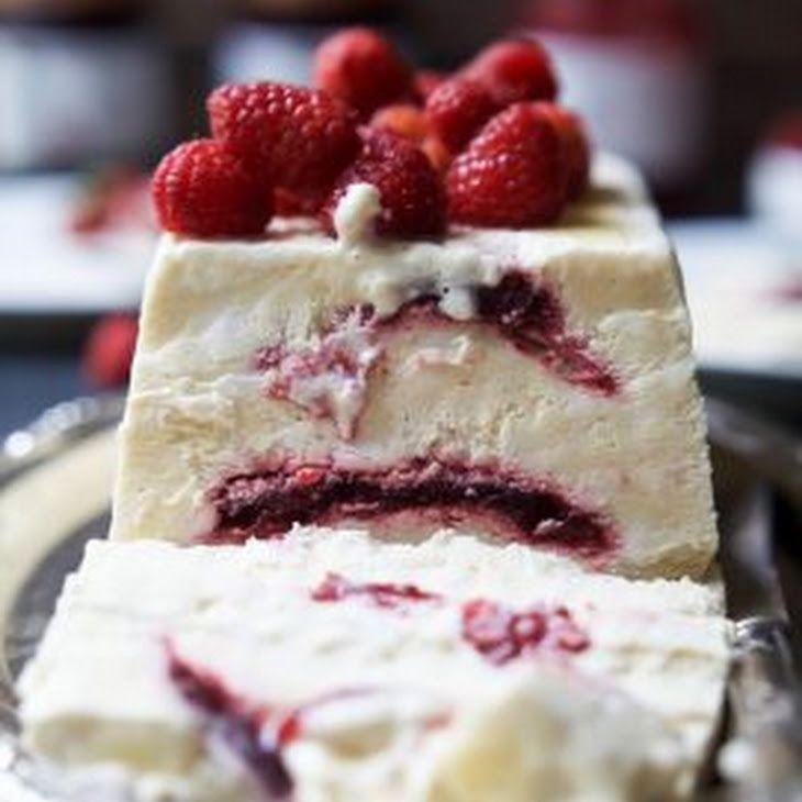 Raspberry Amaretto Semifreddo {dairy free} Recipe Desserts with eggs, raw honey, vanilla extract, cream of tartar, full fat coconut milk,…