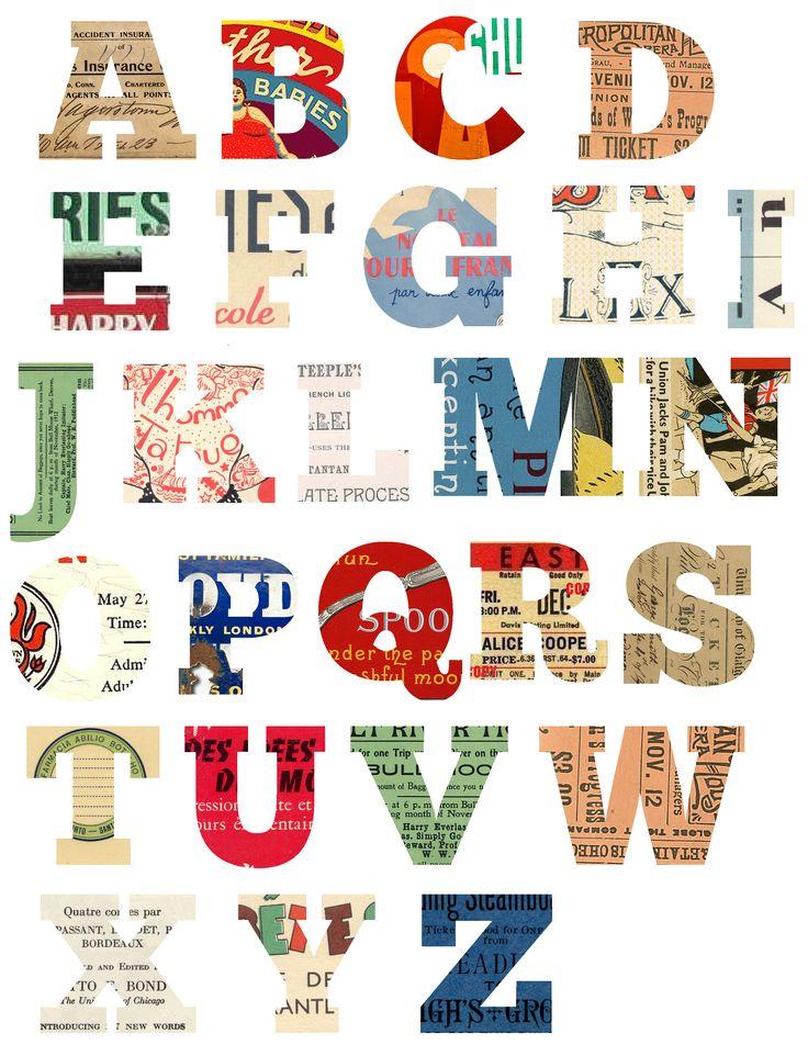 Free Printable Scrapbook Letters. #diy #crafts #printables #scrapbook #letters #alphabet