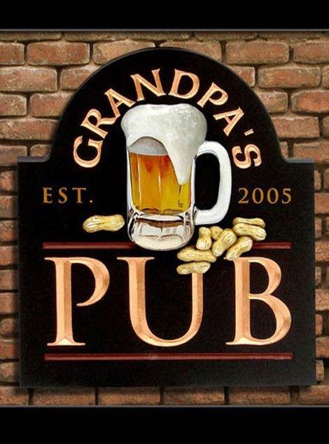 Grandpa's Bar & Pub Sign | Danthonia Designs