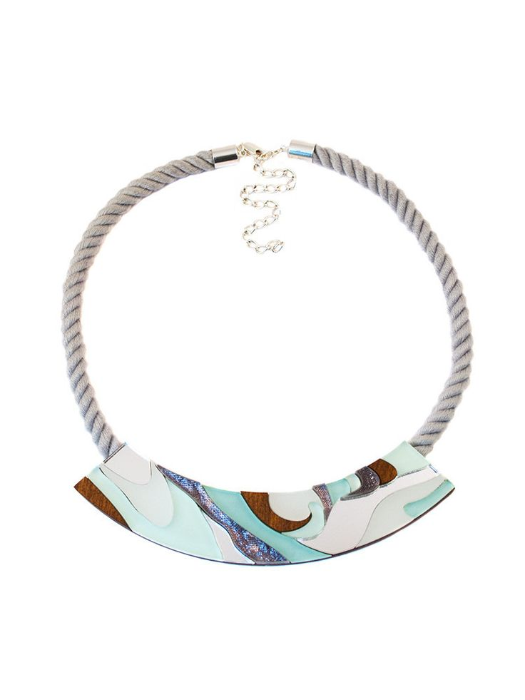 Marble Rope Necklace in Mint by Wolf & Moon