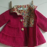Knitting : Lined Tiered Baby Coat