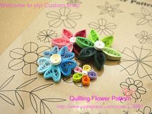 Diy Scrapbooking Paper Quilling herramientas, stripper / co ordinate / 14 Quilling flor parttern dibujo Collection Photo tarjetas de decoración(China (Mainland))