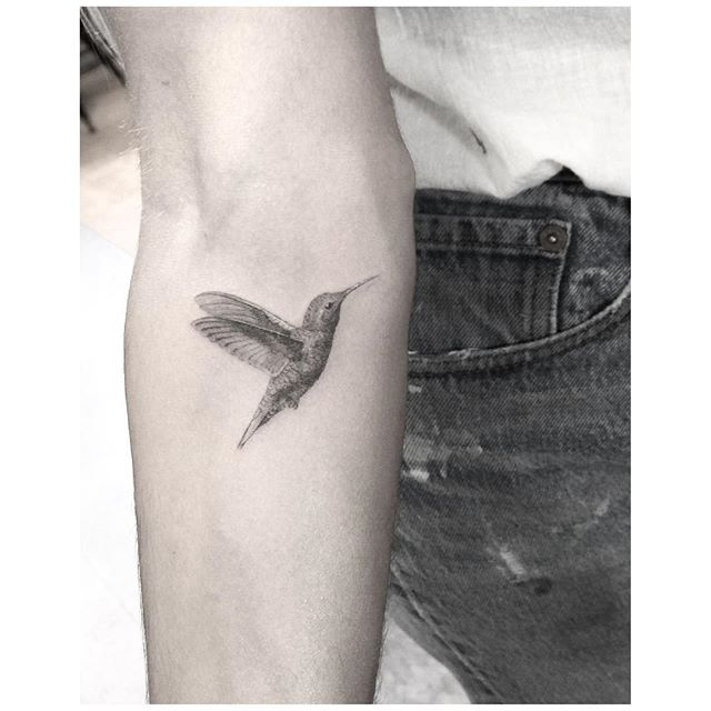 Lil birdy flying back to Toronto #colibri #tattoo #blackandwhite                                                                                                                                                                                 More