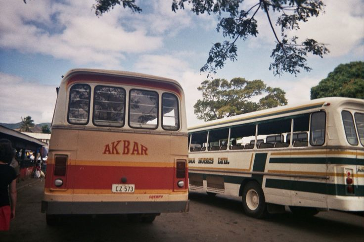 Akbar Bus, Raki Raki, Fiji. 35mm Film.