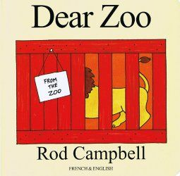 Dear Zoo / Cher Zoo.  A bilingual edition of this popular book - the full text is in both French and English.