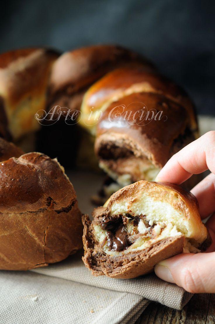 Ciambellone di pan brioche alla ricotta intrecciato vickyart arte in cucina