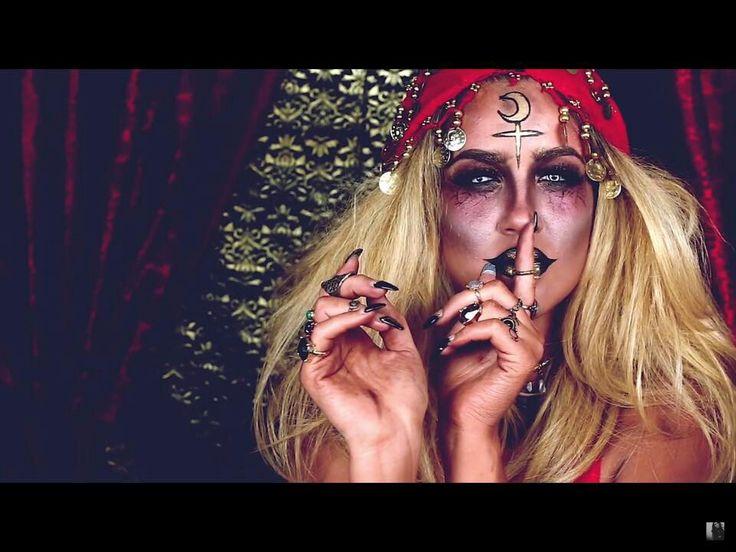 Demented gypsy fortune teller makeup idea