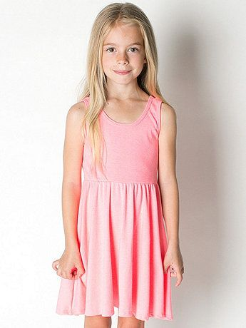 Highlighter Kids Baby Rib Skater Tank Dress | American Apparel recommended for lasting, good quality and easy to layer