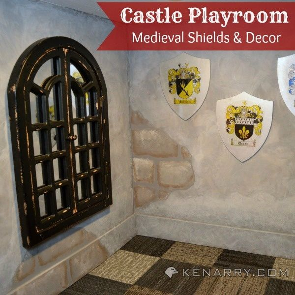Castle Playroom Shields And Decor: Setting A Medieval