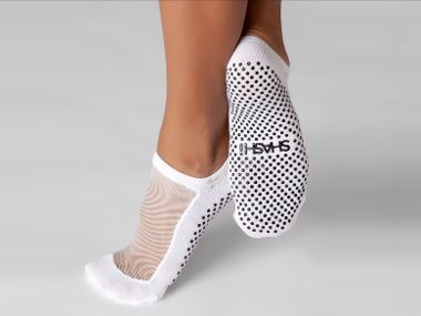 I hate wearing socks when I work out but these will do