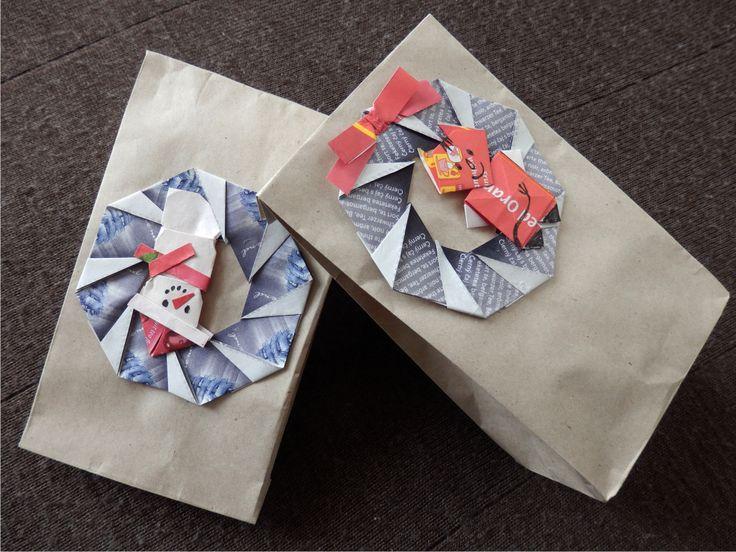 dárkové sáčky - ozdoba z čajových obálek