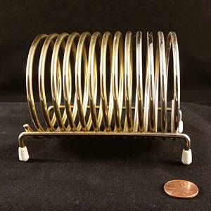 Mid Century Modern Retro Office Spiral Letter Mail Holder Organizer