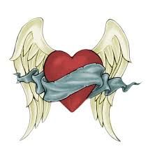 heart with wings tattoo - Google Search