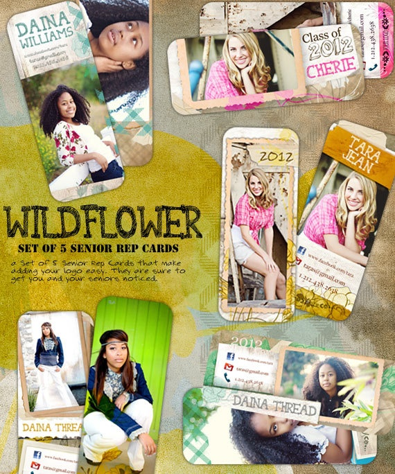 17 best senior rep cards images on pinterest senior rep cards wild flower senior rep cards set of five by frankandfrida reheart Image collections
