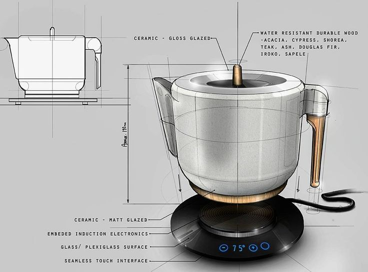 A freelance concept, Japanese inspired, design for Denka Design Consultancy  ______________________________   #industrialdesign #productdesign #idsketching #Wacom #digitalillustration #conceptsketch #rendering #kettle #induction #ergonomics #sketch #drawing #photoshop #digitalart #digital