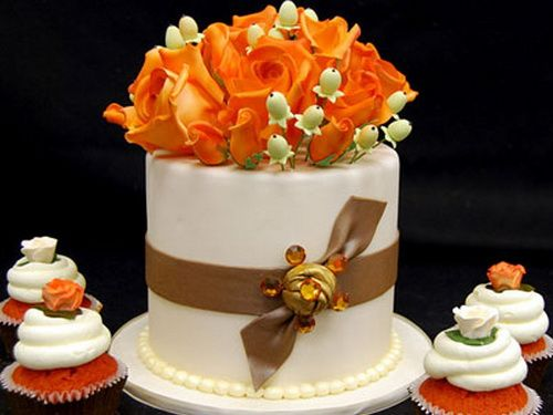 Easy Fall Wedding Cake Cupcakes