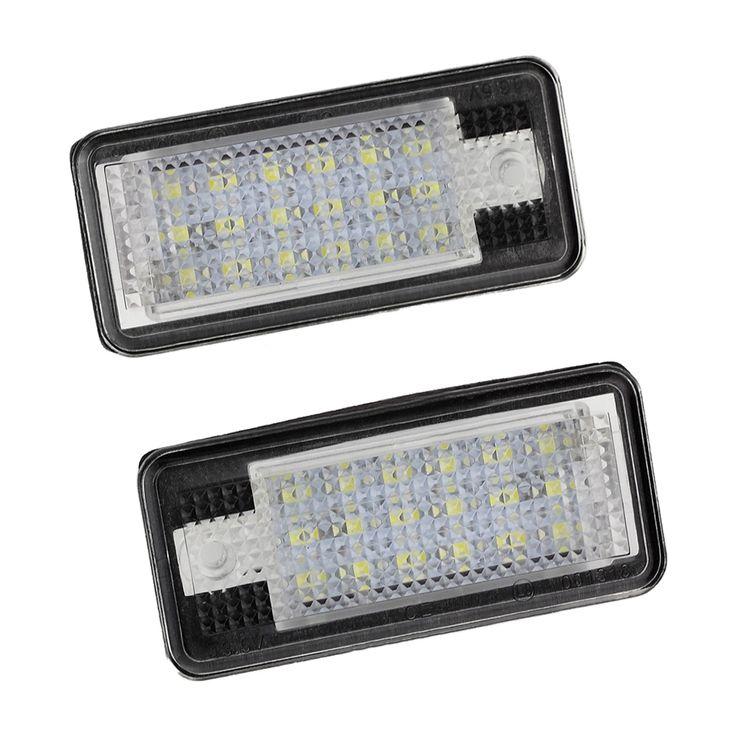 السيارات 2x18 led رقم لوحة ترخيص ضوء مصباح ل أودي a3 s3 a4 s4 b6 a6 s6 a8 s8 q7