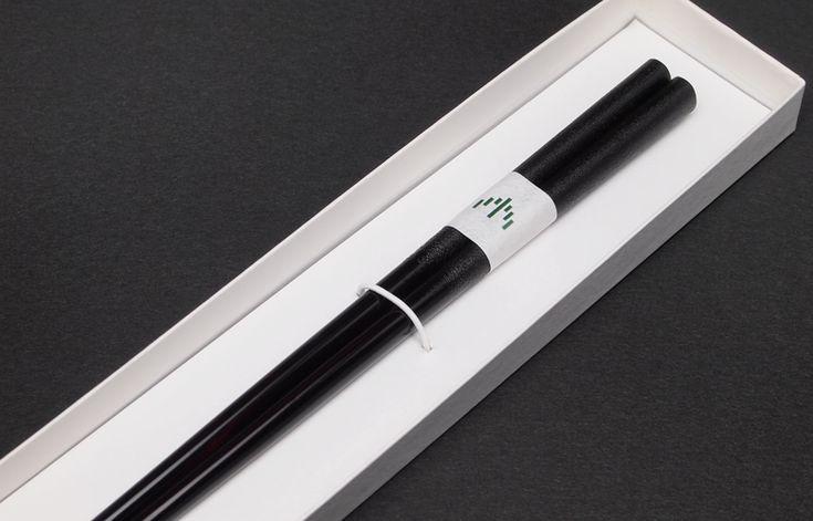 輪島キリモト 木地呂楕円箸 (黒)