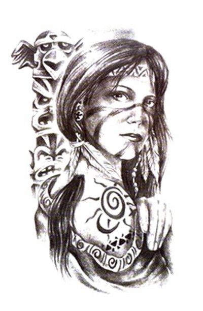 Tattoos For Women A Beautiful Pic Of An American Indian