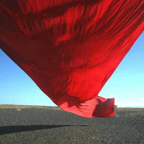 Strijdom van der Merwe Drawing with red cotton in the wind