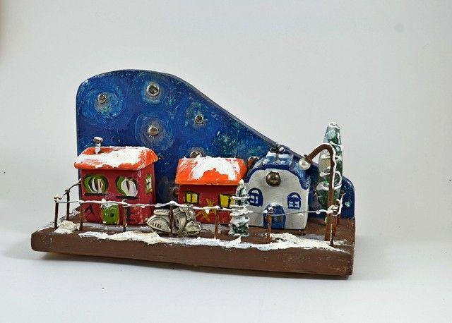 """Χριστουγιεννιάτικη διακοσμητική σύνθεση""""Νύχτα"""""""