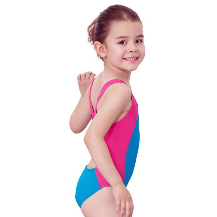 Sports Bathing Suit Girls Patchwork Kids Siamese Bikini Mode Mode Children Sport  One Piece Swimwear