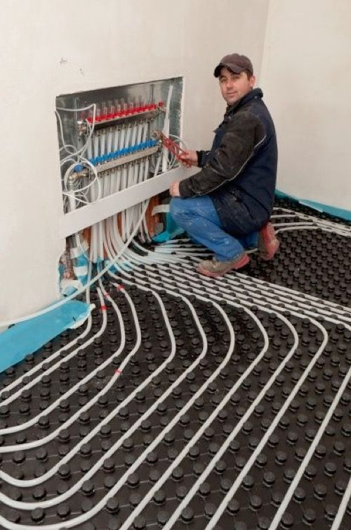 In A Hydronic Radiant Floor Heating System, PEX Tubing Carries The Fluid  Heated By