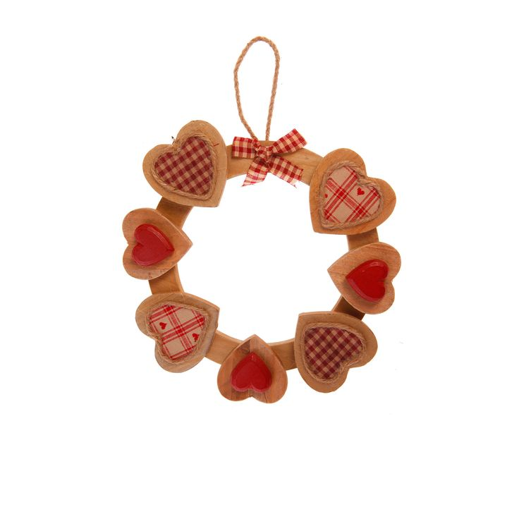 Natural Wood Heart Hanging Decoration. Only 12€. Buy now here http://www.smallthings.gr/product-category/valentines-day-2/