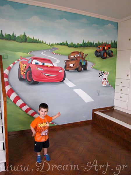 Dream-Art.gr: Ζωγραφική παιδικού δωματίου με θέμα το mcqueen!  w...