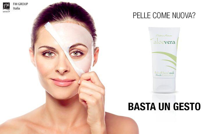 Depurare a fondo la pelle?  Da oggi ti basta un'ora alla settimana: prova l'innovativa maschera peel-off della linea Aloe Vera! #FMGroupItalia #aloevera #maschera #peeloff #beauty #skincare