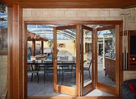 Bifold doors, timber, Perth