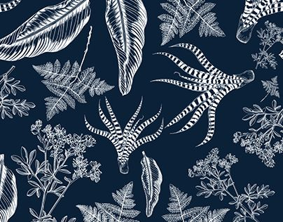 "Check out new work on my @Behance portfolio: ""Botanicals 