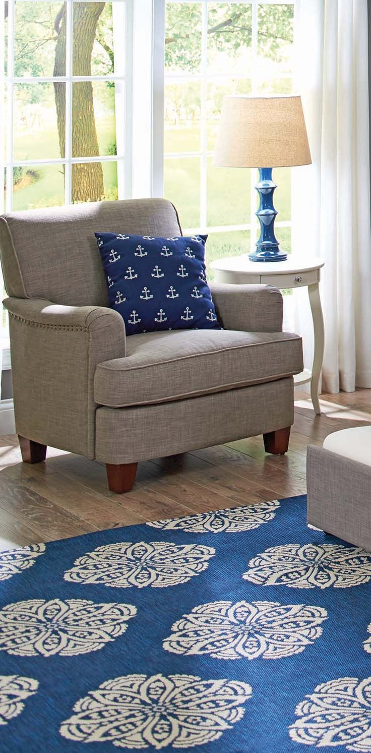 Better Homes and Gardens Grayson Rolled Top Club Chair with Nailheads