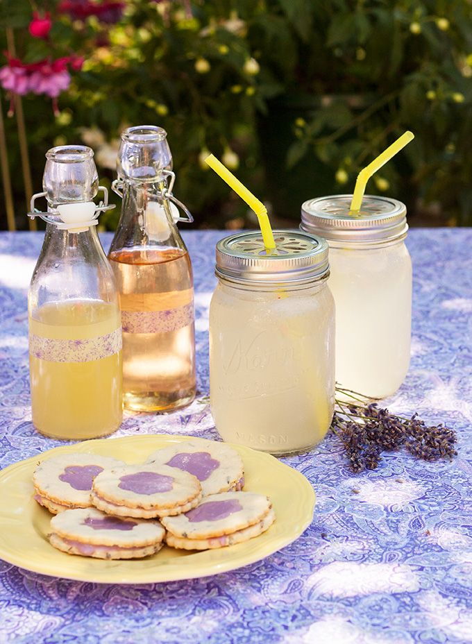 RECIPE: Sparkling Lavender Lemonade + Lavender Creme Cookies