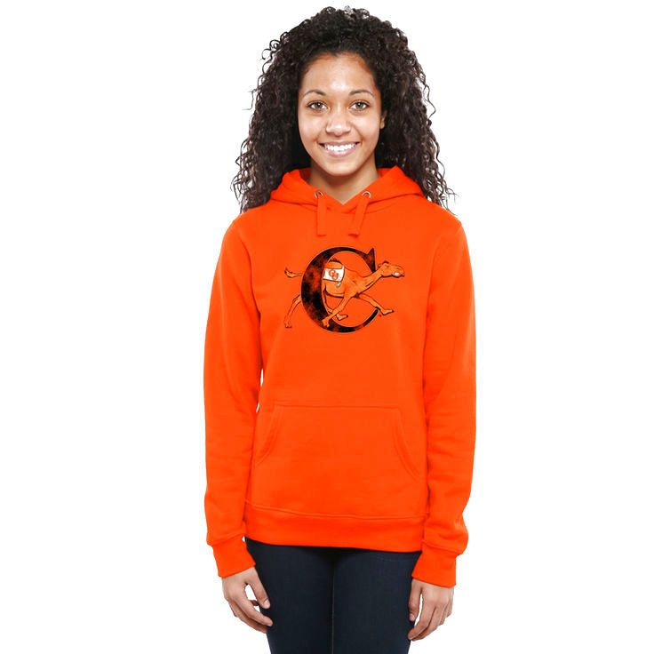 Campbell Fighting Camels Women's Classic Primary Pullover Hoodie - Orange - $64.99