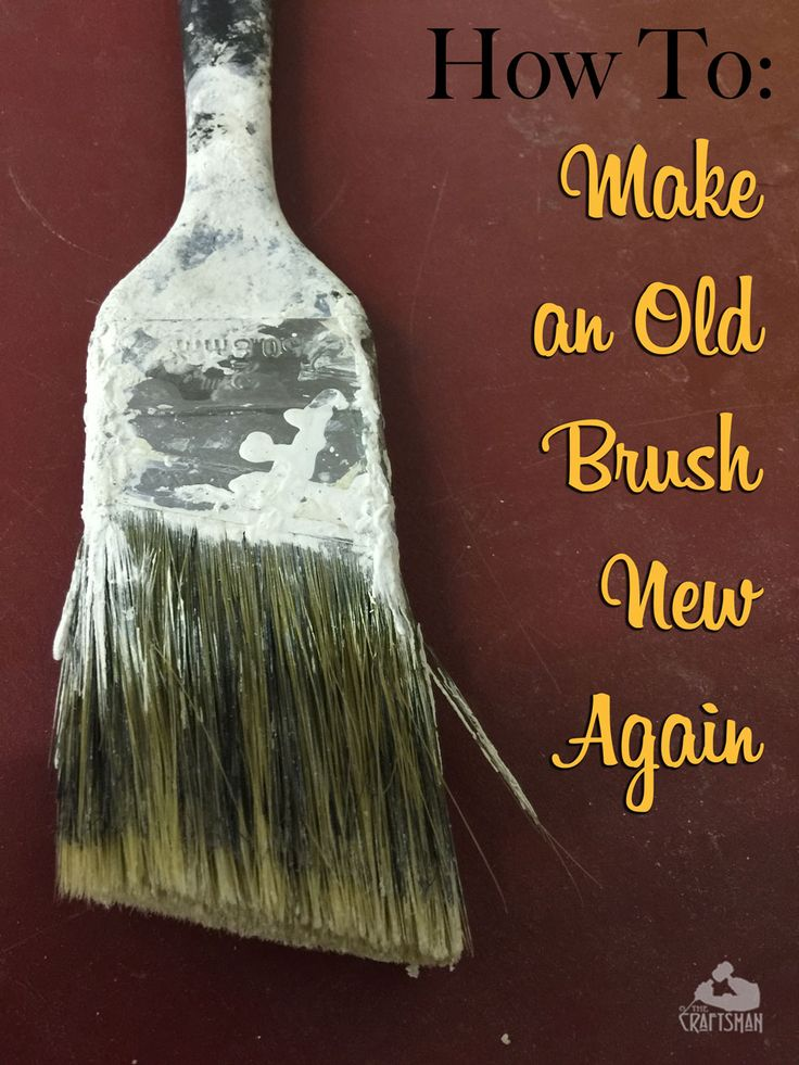 how to clean silk paint brush dried