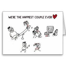 Happiest couple ever Greeting Card