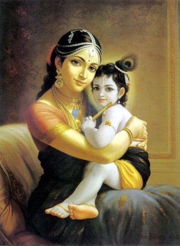 Krishna With Mom