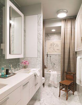 full length shower curtains #yesplease @Hansgrohe USA #bathroomdreams
