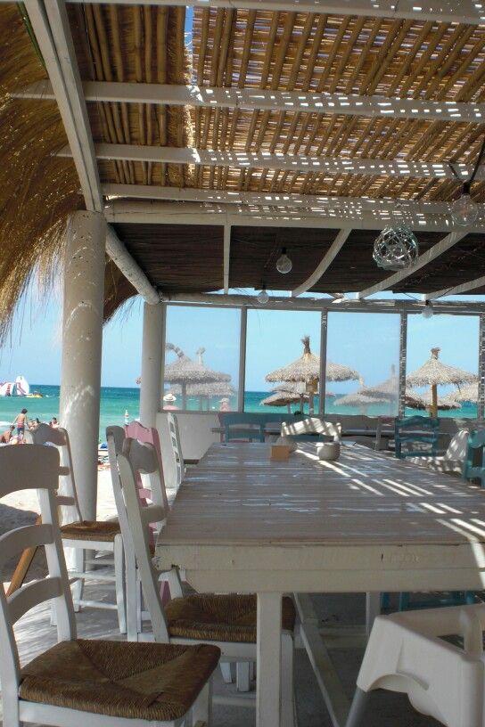 Blue Beach Bar, ein muss... Platja de Can Picafort in C'an Picafort, Islas Baleares