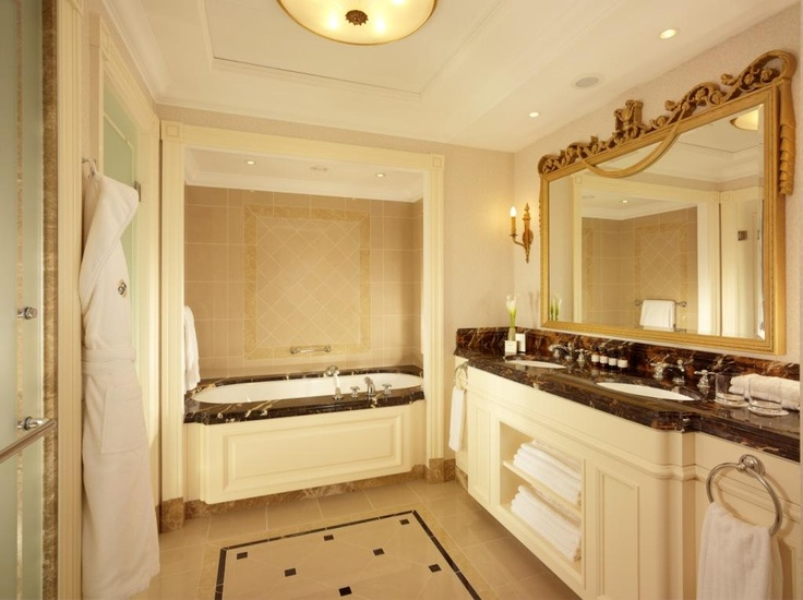 Elegant Bathroom At The Fairmont Grand Hotel Kyiv