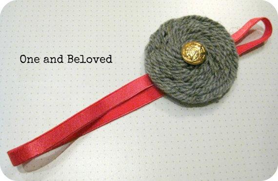 Unique Handmade Fuchsia Elastic Headband by OneandBeloved on Etsy, €6.00